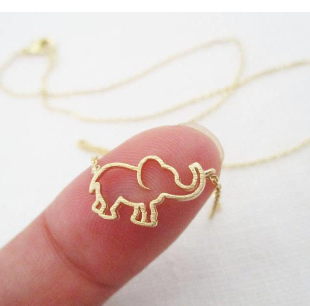 Elephant Pendant Necklace Women Collares De Moda 2020 Long Gold Initial Necklace Fashion Jewelry Accessories