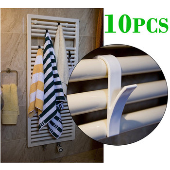 1-10 sztuk wieszak na ubrania Percha Plegable wieszak na szaliki biały wysokiej jakości wieszak na podgrzewany wieszak na ręcznik grzejnik Rail wanna uchwyt z hakiem tanie i dobre opinie CN (pochodzenie) Household Goods