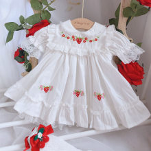 Summer Girls Clothes Newborn Baby Lace Princess Dresses for Baby 2 1st Year Birthday Dress Cute Floral Kids Dress for Party(China)