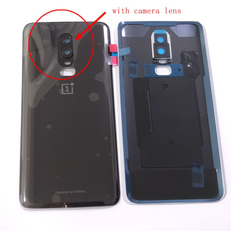 Original For Oneplus 6 Battery Cover Back Rear Door Housing For Oneplus6 Back Frame Replace Glass Spare Parts With Camera Lens