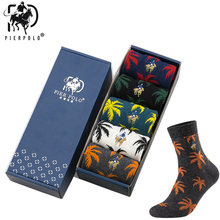 10Pairs/lot PIER POLO Socks Casual Men High Quality Brand Cotton Embroidery Fashion Crew For gifts meias 2019New