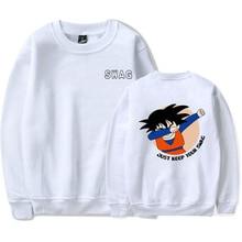 BTFCL  Men Print Sweatshirt Long Sleeve Swag Seven Dragon Ball Hip Hop Casual Harajuku Hoodies Plus Size White Anime Hoodie