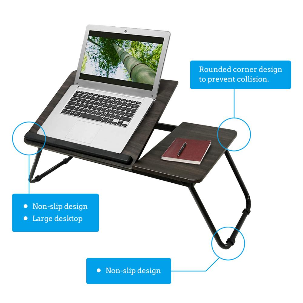 Portable Folding Bookshelf Dormitory Bed Laptop Desk Book Reading Tray Bed Table Computer Desk Learning Reading Table