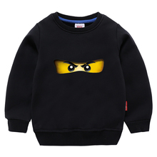 лучшая цена Kids Spring Ninjago Kai Cartoon T shirts Boys Ninja Movie Clothing Cotton Tees Girls Tops Kids Autumn Costume tshirts 3-10y