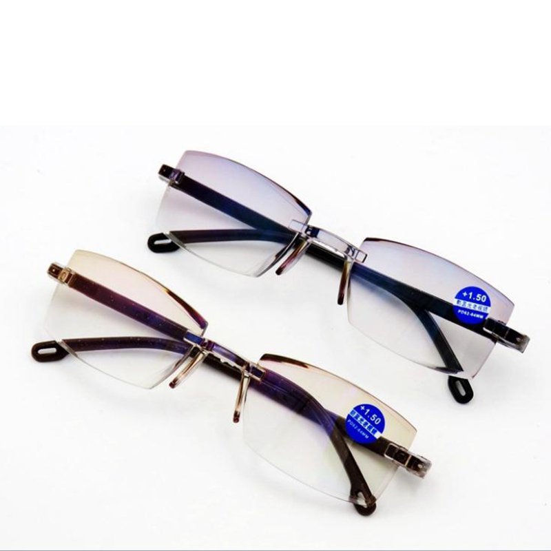 Ultralight Rimless Reading Glasses Men Anti Blue Light Computer Eyeglasses Presbyopia For Women Antiblue Glasses +1.5 +2.0 +2.5