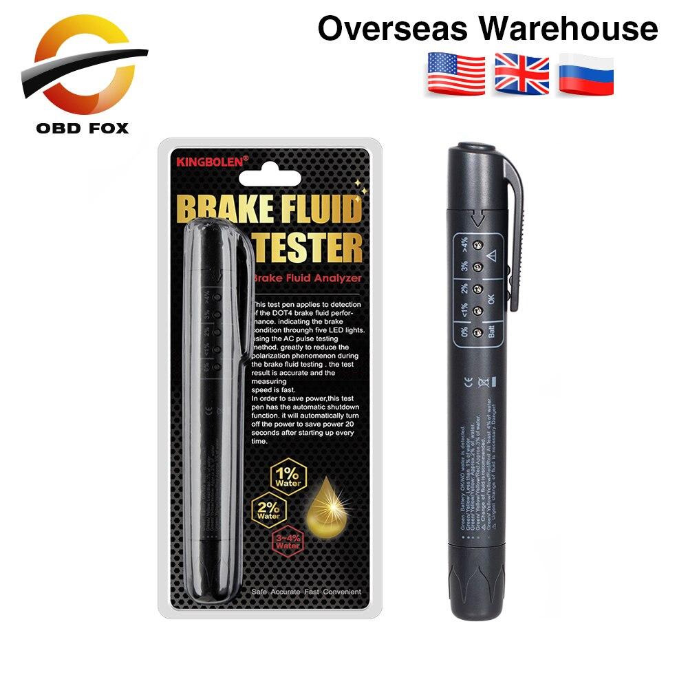 Тормозная Жидкости Тестер pen 5 светодиодный для DOT3/DOT4 Тормозная Жидкости Тестер точного под воздействием тормозной жидкости проверка качес...