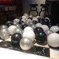 10/20/30 шт 10 дюймов латексные воздушные шары с цветным жемчугом черные Серебристые шары одежда для свадьбы, дня рождения украшения детские игр...