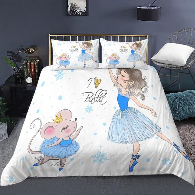 Blue Ballerina Mouse Bedding Set 19