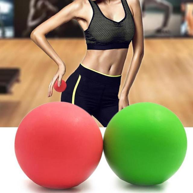 Fitness Massage Ball 63mm Lacrosse Ball TPE Rubber Hockey Trigger Point Relaxation Self Massage Yoga Ball Training Fascia Gym 4