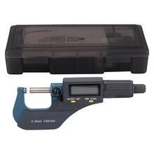 Электронный цифровой дисплей наружный диаметр микрометра 0-25 мм электронный сантиметр карта спиральный микрометр