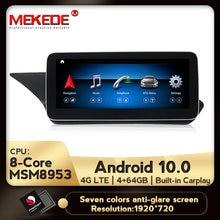 Hd android 10 8 núcleo 4g + 64g 4g lte navegação gps do carro jogador multimídia para mercedes benz classe e w212 e200 e230 e260 e300 s212