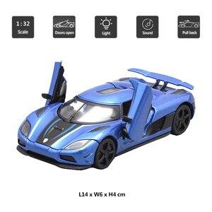Image 2 - Hommate моделирование 1/32 Supercar Koenigsegg Agera R спортивный сплав 1:32 Diecasts & Toy автомобили модели автомобилей игрушки для детей