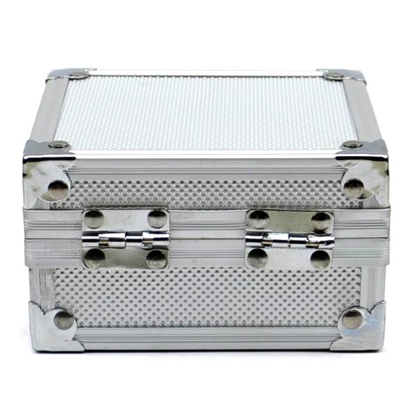 Caisse argentée de boîte de Machine de tatouage dalliage daluminium pour la mitrailleuse daffichage de stockage