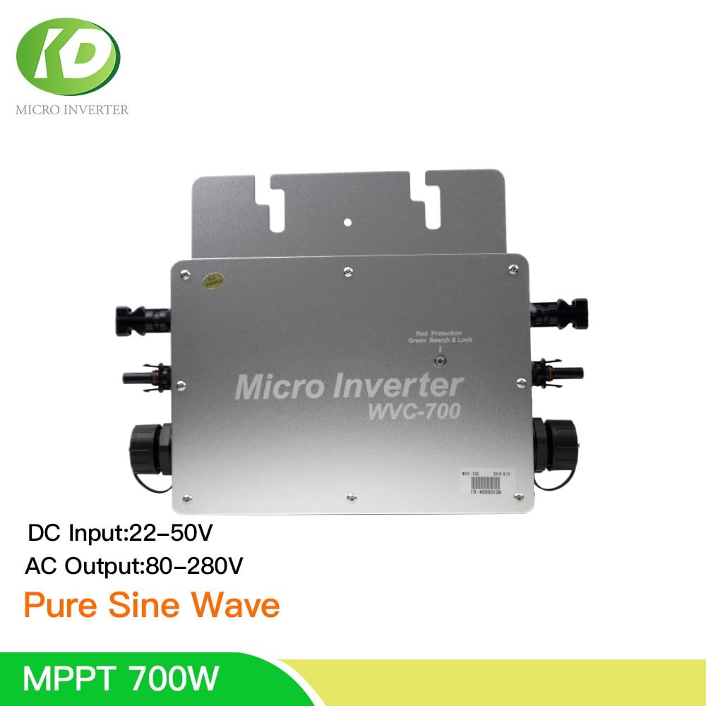 alta qualidade 700w mppt inversor solar onda senoidal pura na grade tie inversor 24 36 48vdc