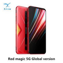 """الإصدار العالمي النوبة الأحمر ماجيك 5G الهاتف المحمول 6.65 """"AMOLED NFC Snapdragon865 الهاتف الذكي 4500mAh كاميرا خلفية 64MP لعبة الهاتف"""