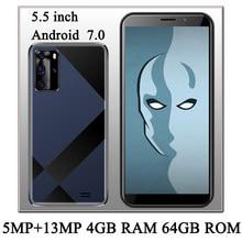 Smartphone 10i débloqué, Android 7.0, 4 go de RAM, 64 go de ROM, 5mp + 13mp, reconnaissance faciale, 5.5 pouces, Wifi, caméra avant/arrière, 4G LTE, version internationale