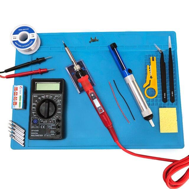 Электрический паяльник 80 Вт с регулируемой температурой 220 В 110 В, сварочный паяльник, паяльная станция, набор аксессуаров для паяльника