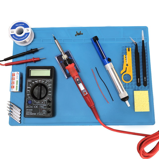 80W elektryczna temperatura lutownicy regulowana 220V 110V lutowanie spawanie żelaza stacja lutownicza zestaw żeliwa lutowniczego akcesoria