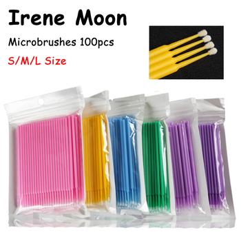 100pcs Disposable Makeup Brush Individual Eyelash Extension Applicator Lash Removing Swab Mascara Tool