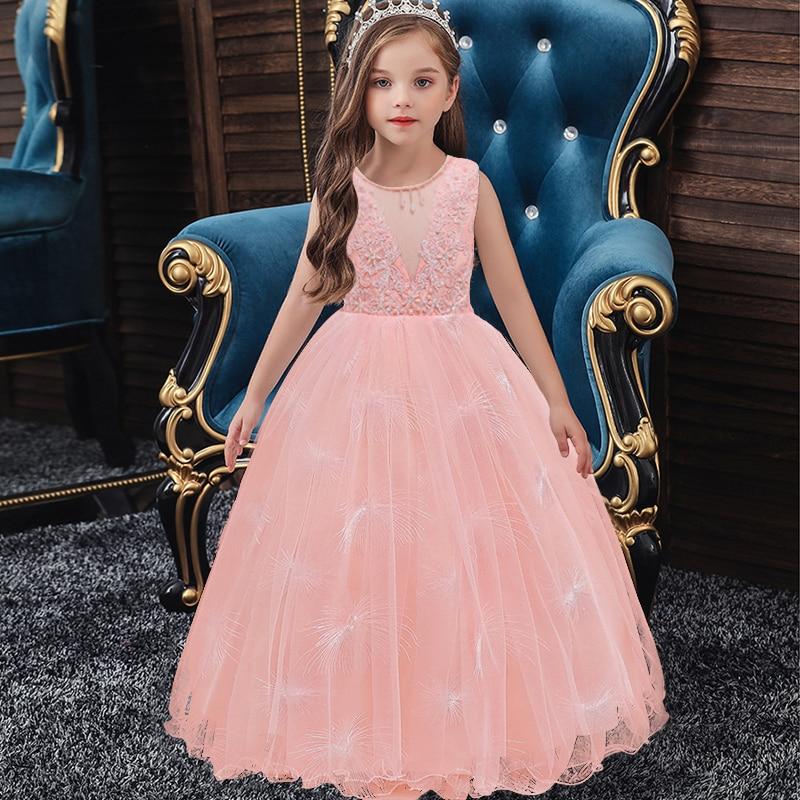 Маленькие платья для девочек, держащих букет невесты на свадьбе; платье для торжеств; платье для девочек, расшитое бисером, на день рождения; платье для первого причастия; бальное платье с длинными рукавами и лепестками - Цвет: as picture