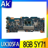 original UX305FA laptop motherboard for ASUS UX305FA UX305F UX305 motherboard with BDWY 5Y71 processor tested 8GB in stock|Placas-mães|   -