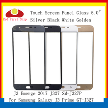 10Pcs/lot Touch Screen For Samsung Galaxy J3 Prime Emerge 2017 J327 SM-J327P Panel Front Outer Glass LCD