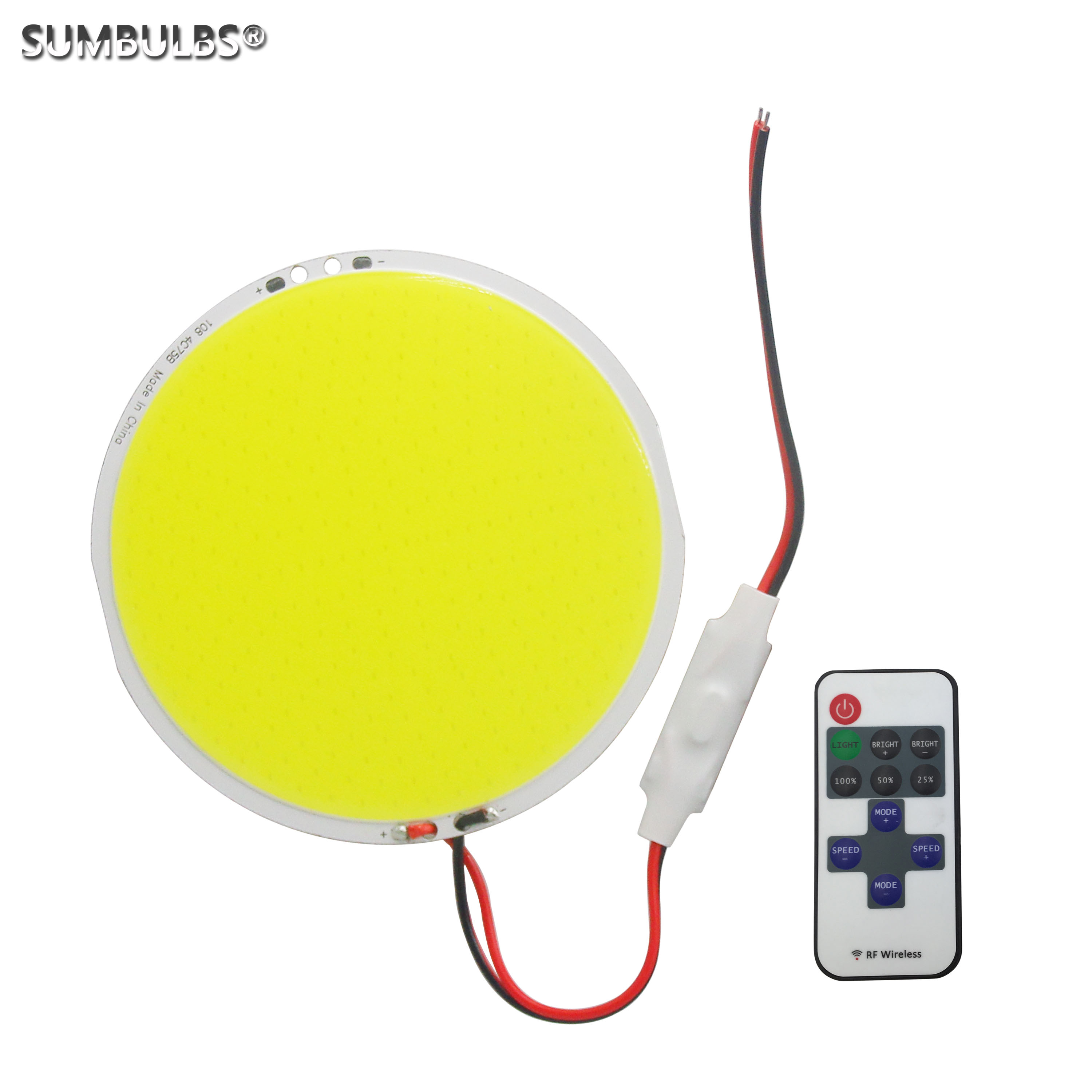 Dimmable Round DC 12V 50W LED High Power 108mm COB LED Panel Light source with dimmer led Lamp Cold White bulb image