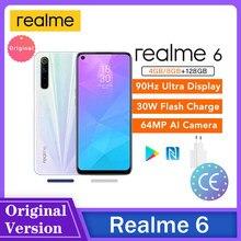 Reyno 6 Exibição FHD Telefone Inteligente 64MP GB/8GB de RAM 128GB ROM Quatro Câmeras 90HZ 4300mAh 30W Carregamento Rápido Сотовый телефон Teléfono
