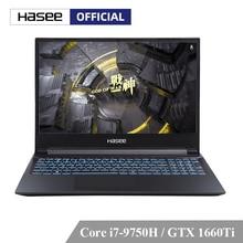 حاسي Z7 CT7NK كمبيوتر محمول للألعاب (I7 9750H + GTX1660Ti 6G/16G RAM/256G SSD + 1 تيرا بايت HDD/15.6 ips لوحة المفاتيح الخلفية) الكمبيوتر المحمولأجهزة الكمبيوتر المحمول