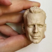 1/6 Repainted Mold Bruce Willis Head Sculpt McClane Head for 12'' Muscular Body Accessory
