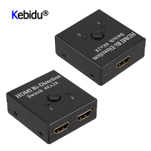 2 Ports Bi directional 4K HDMI Splitter HDMI Switch Switcher 1X2 2X1 Split 1 In 2 Out Amplifier 1080P 4Kx2K HDMI Switcher