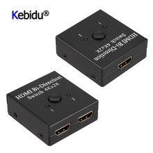 2 portas bidirecional 4k hdmi divisor interruptor 1 x2 2x1, dividido 1 em 2 para fora amplificador comutador hdmi 1080p 4k x 2k