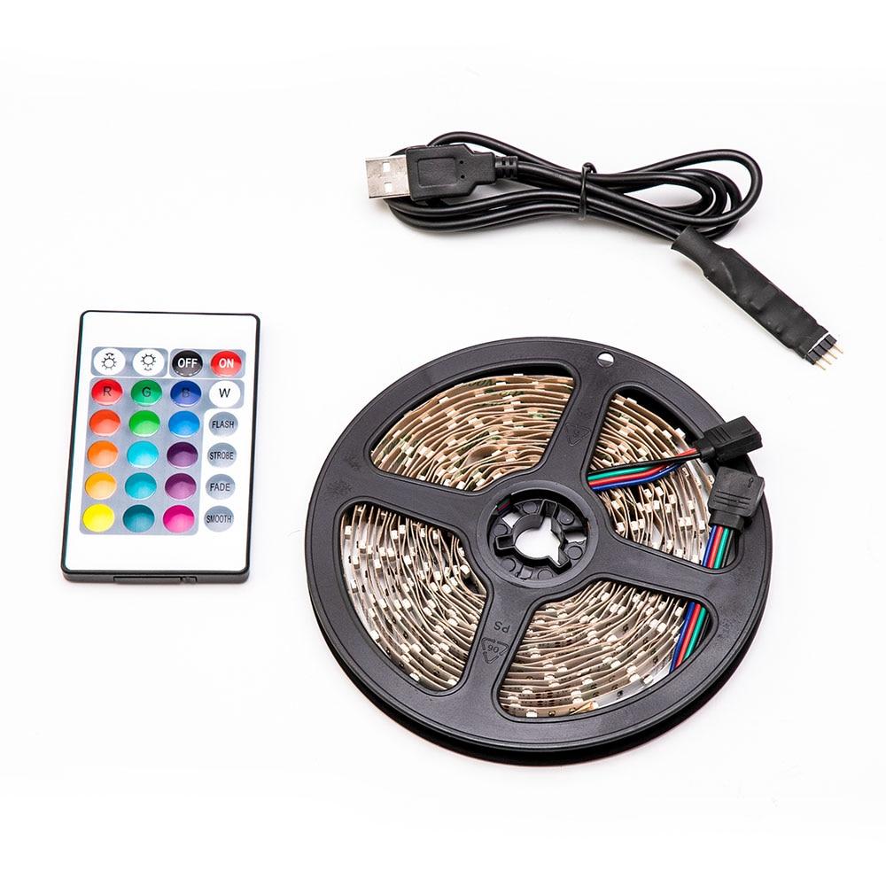 H139f810da9394eeb8638c07420cdd609L 5V USB LED Strip light RGB 2835SMD Flexible LED light Tape Ribbon 1M 2M 3M 4M 5M HDTV TV Desktop Screen Backlight Bias lighting