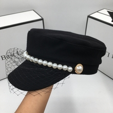 Visors Black Women The Wool New with Socialite Pearl And Lace for Restoring Ancient-Ways