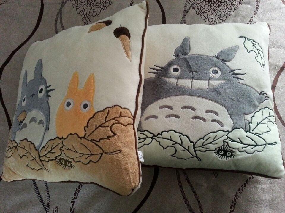 2 pièces usine directement vendre STUDIO GHIBLI mon voisin Totoro doux peluche peluche coussin & oreiller 40x40 cm livraison gratuite