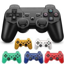 Para sony ps3 controlador 2.4ghz dualshock bluetooth gamepad joystick console sem fio para playstation 3 controle de computador com cabo usb