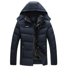 купить 2019 Winter Jacket Men Thick Parkas Casual Winter Coats Men Warm Mens Winter Coat And Jacket Hooded Fleece Inside Male Outerwear по цене 1470.01 рублей
