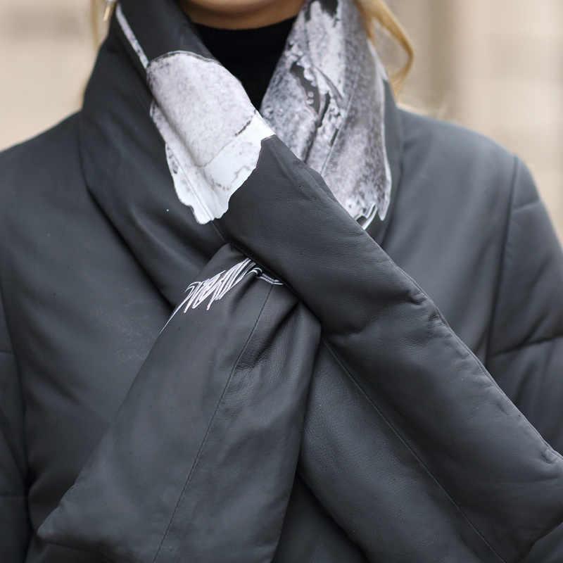Damska kurtka z futra 2020 kobiet kurtka z owczej skóry ciepła ocieplana kurtka płaszcz zimowy kobiety prawdziwa skórzana kurtka ze skórzanym szalikiem MY
