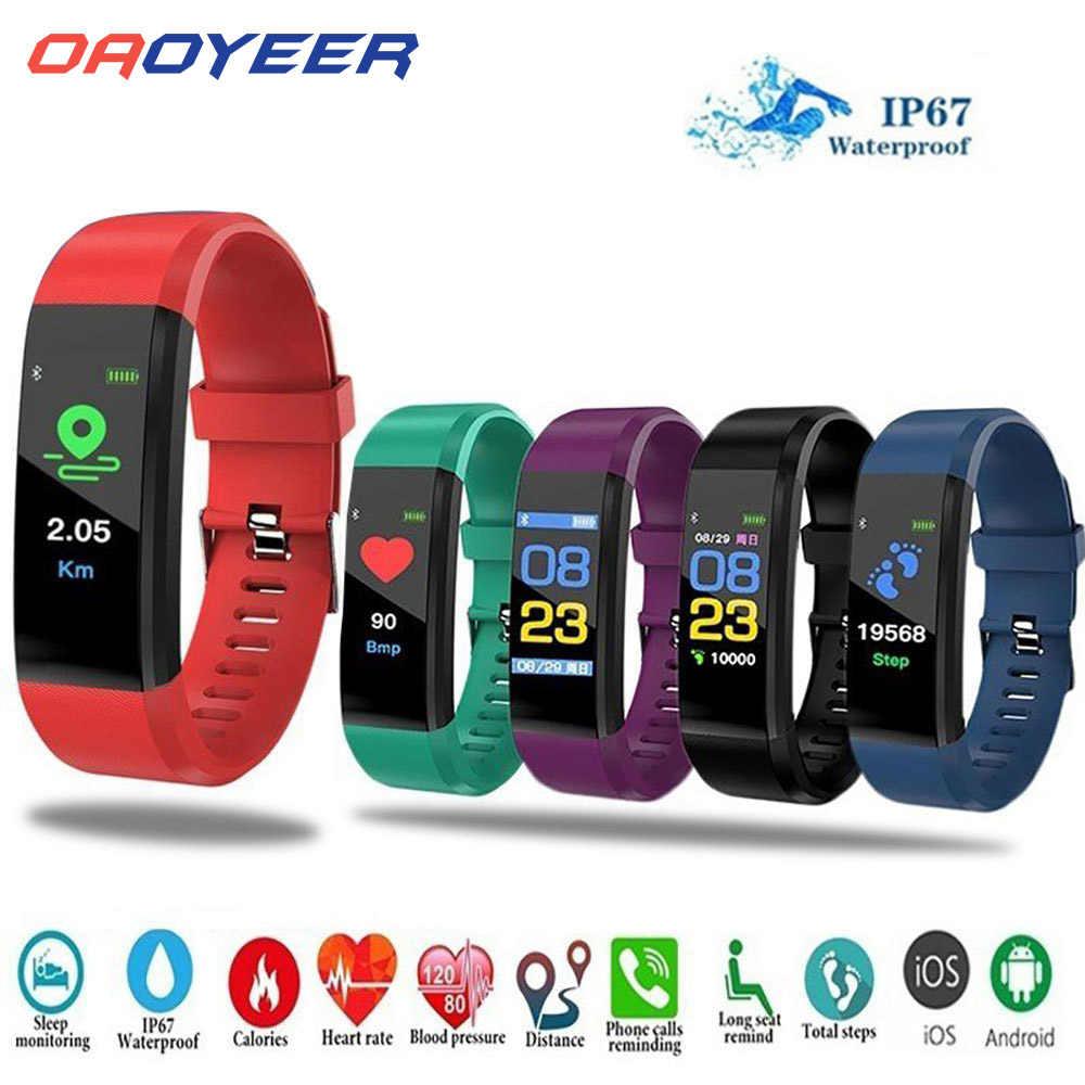 115Plus Sport montre intelligente Bracelet fréquence cardiaque pression artérielle hommes montres intelligentes android Fitness Tracker Bracelet intelligent