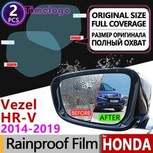 For Honda HR-V Vezel 2014~2019 Full Cover Anti Fog Film Rearview Mirror Car Accessories Stickers HRV HR V 2015 2016 2017 2018