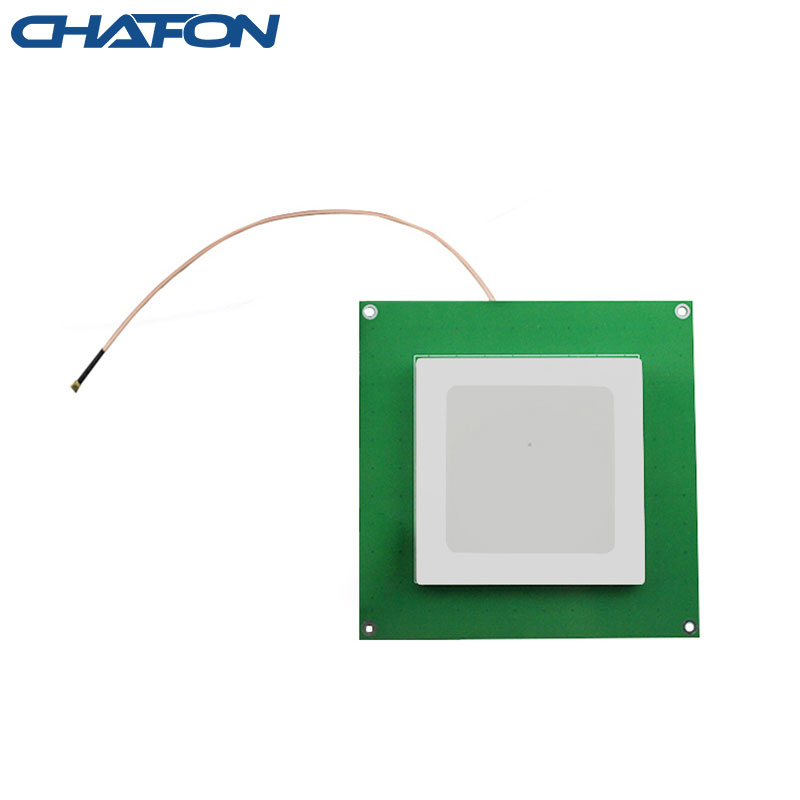 Chafon Ceramic Rfid Uhf Antenna 80mm*80mm 915mhz 6dbi Circular Polarization Used For Warehouse Management