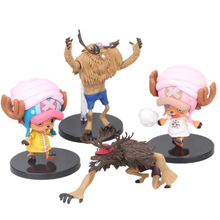 4 PCS/LOT Anime One Piece Tony Tony Chopper Cartoon Model Doll PVC Action Figure Toy for Children Collection Birthday Gift цена 2017