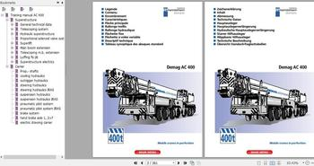 for Terex Demag Crane Full Model Service Technical Training Manual, Diagram and Operation Manual