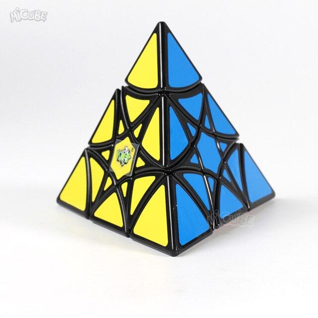 Puzle LanLan, pirámide de hexagrama curvado, 3x3x3, Cubo, puzle Pyraminxcube, Cubo mágico, 3x3x3, Cubo mágico, juguetes educativos