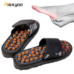 1 Pair Reflexology Sandals Foot Massager Slippers Acupressure Acupuncture Shoes TaiChi Rotary elastic massage