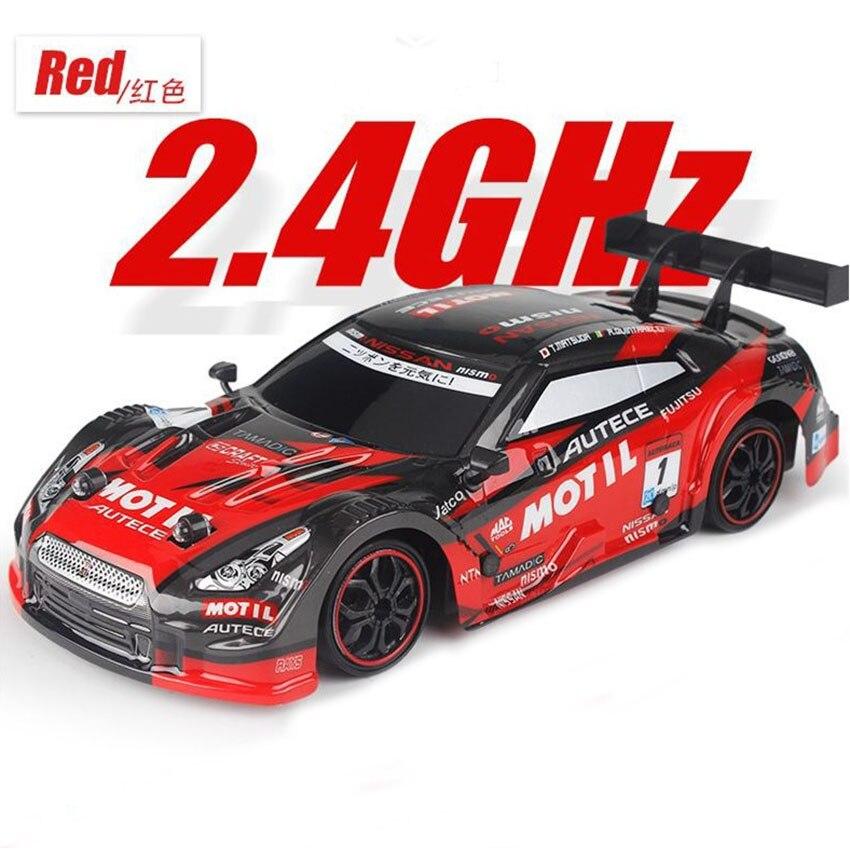 2.4GHZ 4WD Drive Rapid Drift RC Car GTR Radio Control Off-Road Vehicle Drift High Speed Model Car