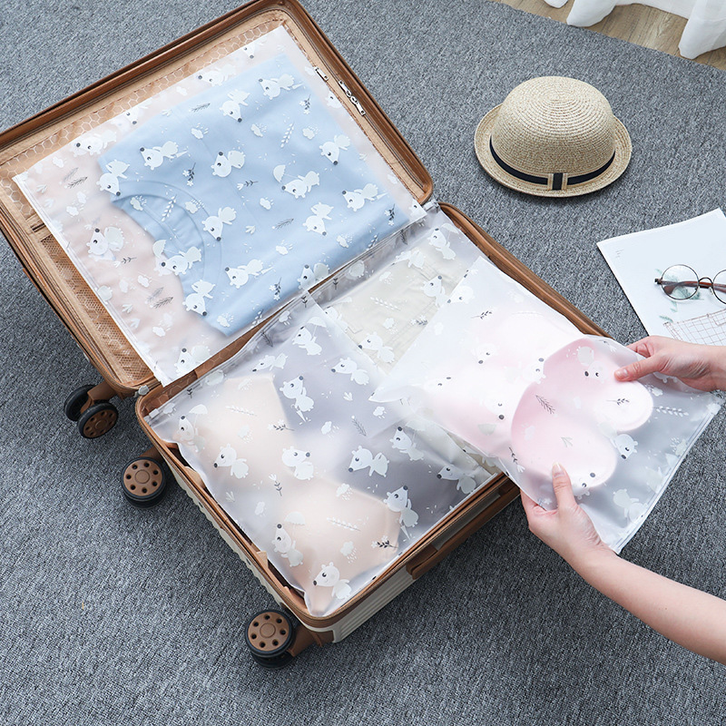 Cartoon Animal Transparent Cosmetic Bag Travel Makeup Case Women Zipper Make Up Organizer Storage Pouch Toiletry Wash Bath Kit