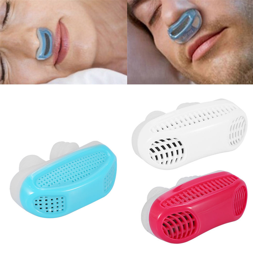 Anti Snore Nose Clip Stop Snoring Sleep Aid Snore Nasal Dilators Night Silicone Relieve Snoring Nose Breathing Apparatus