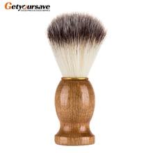 Badger Hair Mens Shaving Beard Brush Salon Men Facial Beard Cleaning Appliance Shave Tool Razor Brush With Wood Handle For Men
