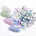 Смешанные опаловые цвета SS3-SS30 Стразы для дизайна ногтей для DIY 3D маникюра без горячей фиксации кристаллы блестящие стразы